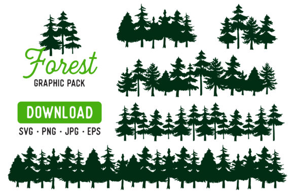 Pine Forest Clipart Bundle Graphic By The Gradient Fox