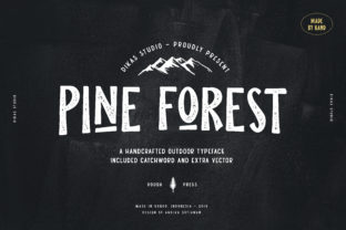 Pine Forest Font By Dikas Studio