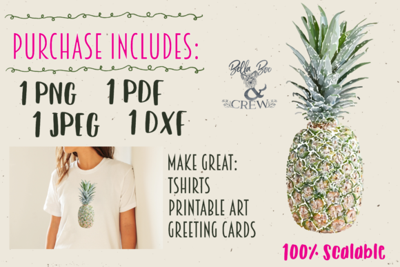 Print on Demand: Pineapple Gráfico Ilustraciones Por BellaBoo