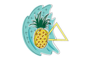Pineapple in Abstract Print Style Craft Design By Creative Fabrica Crafts