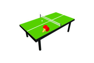 Ping Pong Table Craft Design By Creative Fabrica Crafts