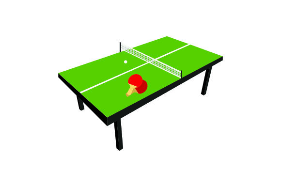 Download Free Ping Pong Table Svg Cut File By Creative Fabrica Crafts for Cricut Explore, Silhouette and other cutting machines.
