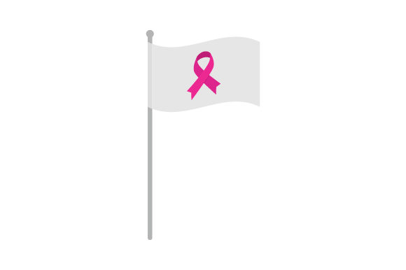 Download Free Pink Breast Cancer Awareness Ribbon On Flag Svg Cut File By for Cricut Explore, Silhouette and other cutting machines.