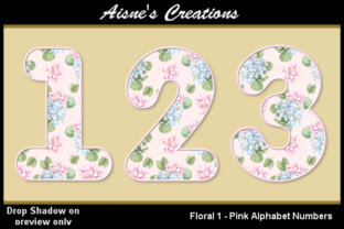 Download Free Pink Floral 1 Numbers Graphic By Aisne Creative Fabrica for Cricut Explore, Silhouette and other cutting machines.