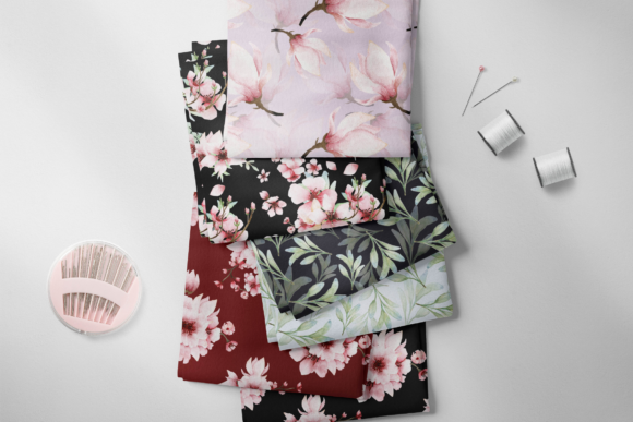 Print on Demand: Pink Floral - Sakura Watercolor Set Graphic Illustrations By Typia Nesia - Image 2