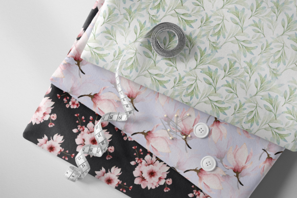 Print on Demand: Pink Floral - Sakura Watercolor Set Graphic Illustrations By Typia Nesia - Image 5