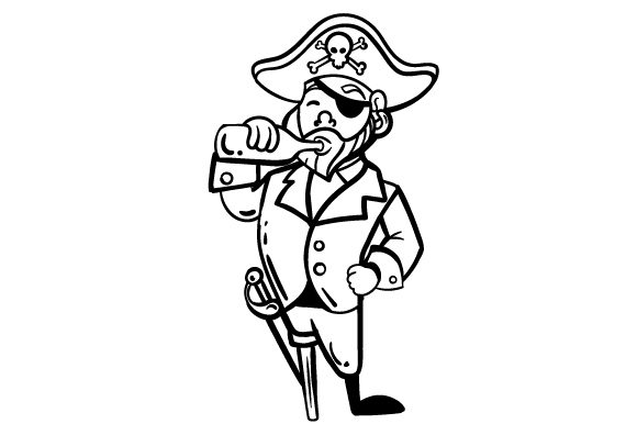 Download Free Pirate Drinking Rum Out Of Bottle Svg Cut File By Creative for Cricut Explore, Silhouette and other cutting machines.