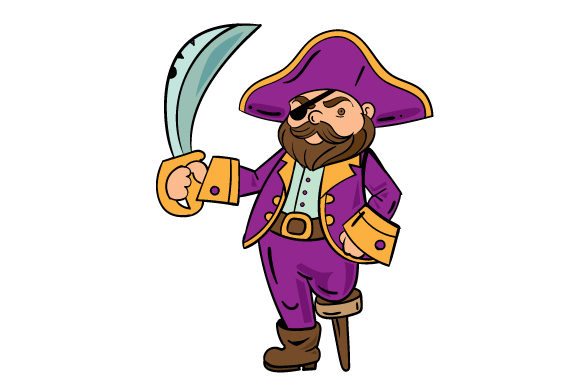 Pirate With Sword Svg Cut File By Creative Fabrica Crafts