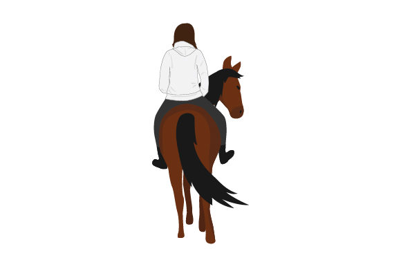 Download Free Plain Sweatshirt Mockup With Person On Horse From Rear Svg Cut for Cricut Explore, Silhouette and other cutting machines.