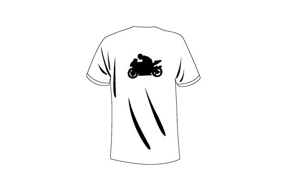 Download Free Plain T Shirt Mockup From Rear With Person On Motorcycle Svg Cut for Cricut Explore, Silhouette and other cutting machines.
