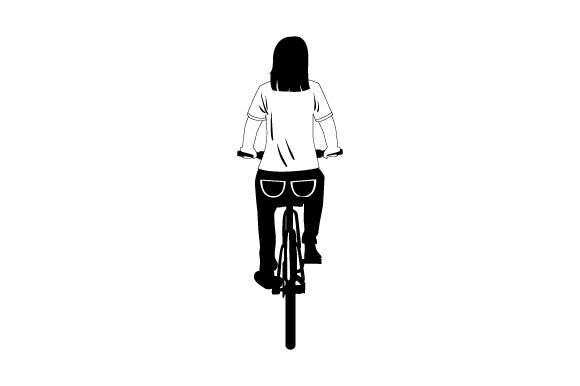 Download Free Plain T Shirt Mockup With Person On Bike From Rear Svg Cut File for Cricut Explore, Silhouette and other cutting machines.