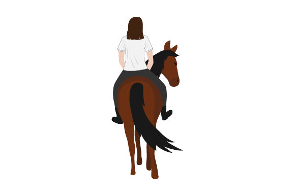 Download Free Plain T Shirt Mockup With Person On Horse From Rear Svg Cut File for Cricut Explore, Silhouette and other cutting machines.