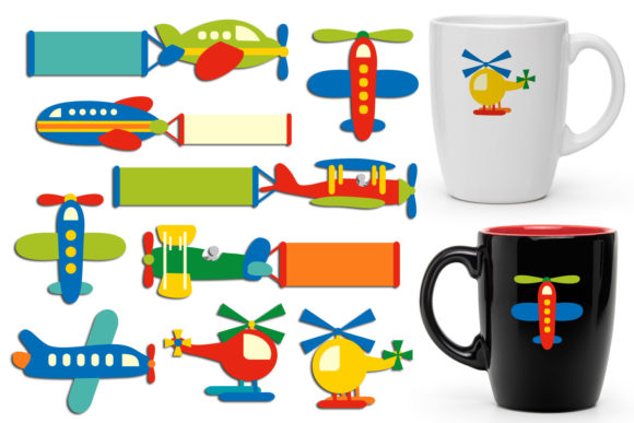 Print on Demand: Planes Graphic Illustrations By Revidevi