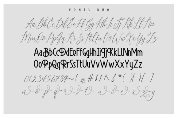 Print on Demand: Platinum Evelyn Duo Script & Handwritten Font By sapre.studio - Image 6