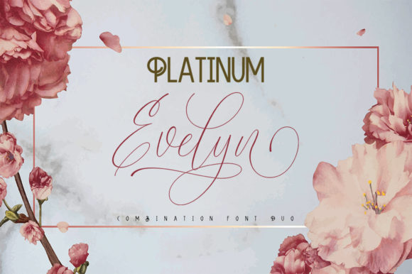 Print on Demand: Platinum Evelyn Duo Script & Handwritten Font By sapre.studio