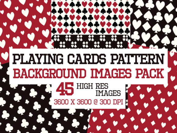Print on Demand: Playing Card Patterns Images Pack Graphic Backgrounds By yumiguelgfxartshop