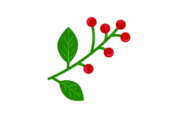 Download Free Poinsettia Flower The Berries Svg Cut File By Creative Fabrica for Cricut Explore, Silhouette and other cutting machines.