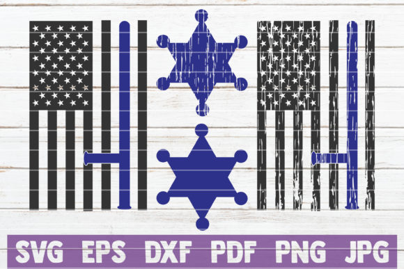Police Flags SVG Bundle | Cut Files Graphic Crafts By MintyMarshmallows