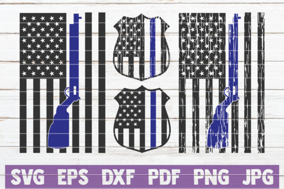 Police Flags Bundle | Cut Files Graphic Crafts By MintyMarshmallows