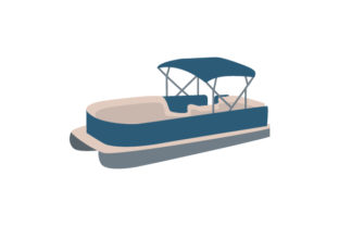 Pontoon Boat Craft Design By Creative Fabrica Crafts
