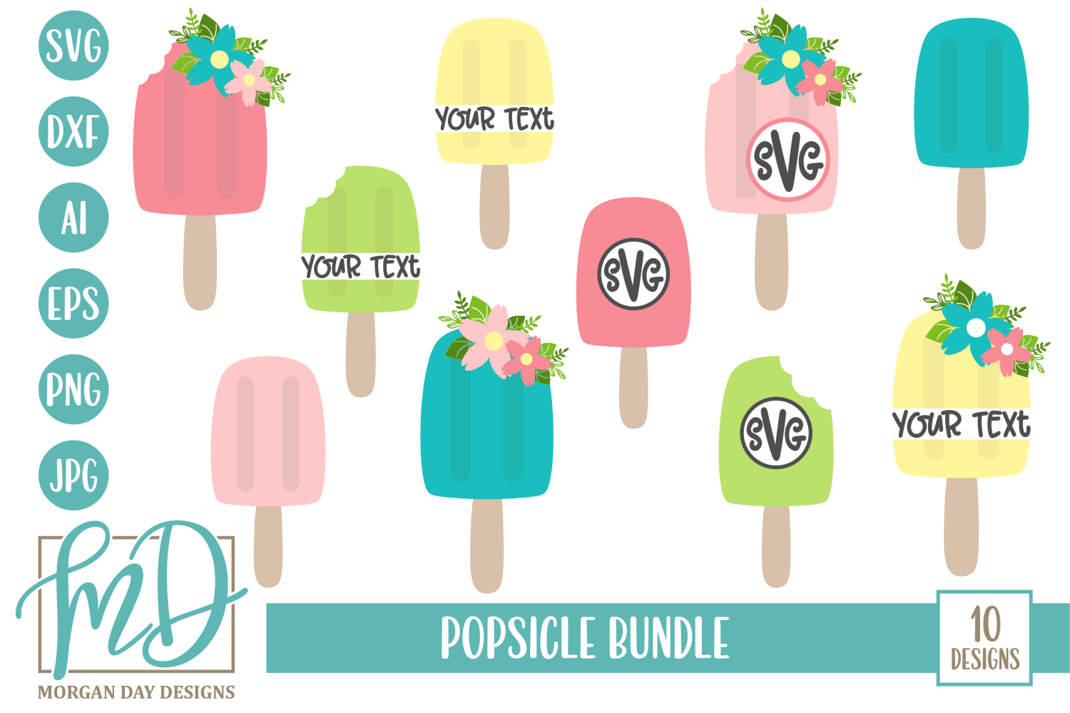 Download Free Popsicle Bundle Graphic By Morgan Day Designs Creative Fabrica for Cricut Explore, Silhouette and other cutting machines.