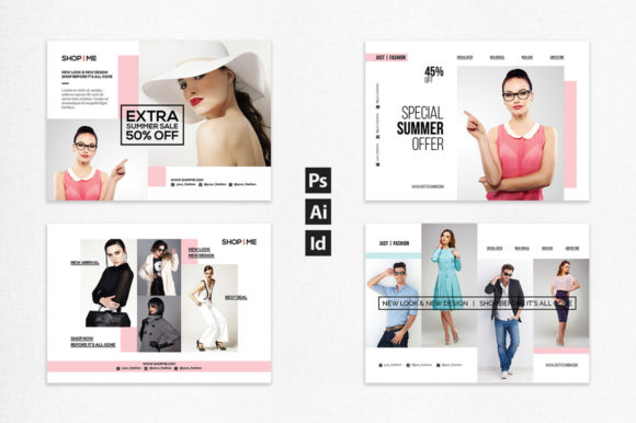 Download Free Fashion Postcard Flyer Graphic By Bettersry Creative Fabrica for Cricut Explore, Silhouette and other cutting machines.