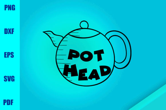 Download Free Pot Head Graphic By Bumblebeeshop Creative Fabrica for Cricut Explore, Silhouette and other cutting machines.
