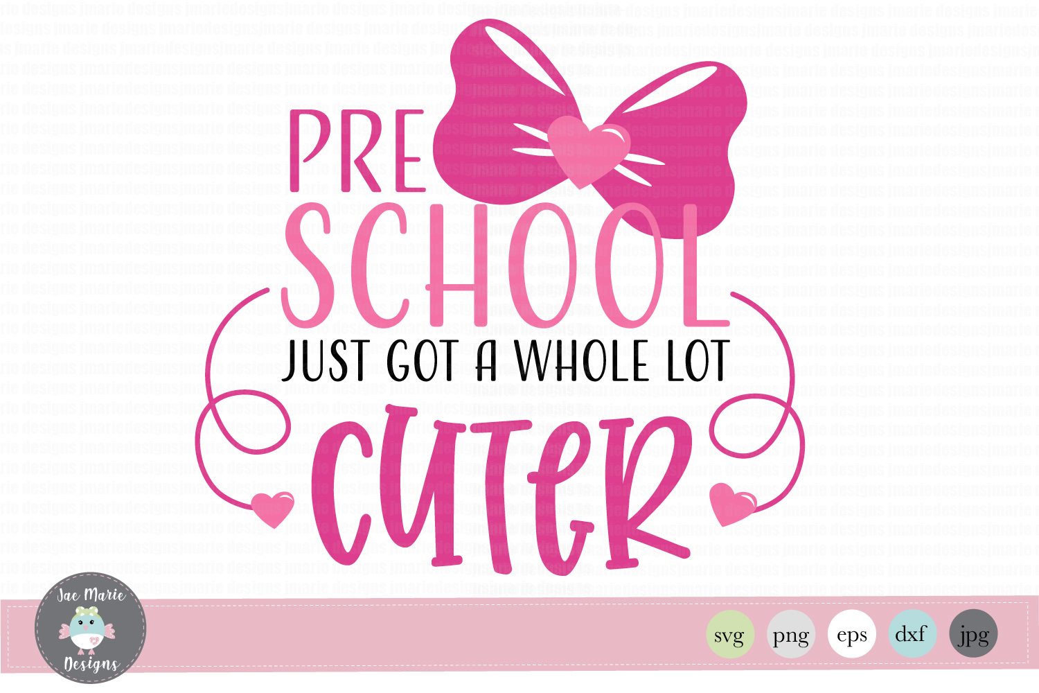 Download Free Pre School Just Got A Whole Lot Cuter Graphic By Thejaemarie for Cricut Explore, Silhouette and other cutting machines.