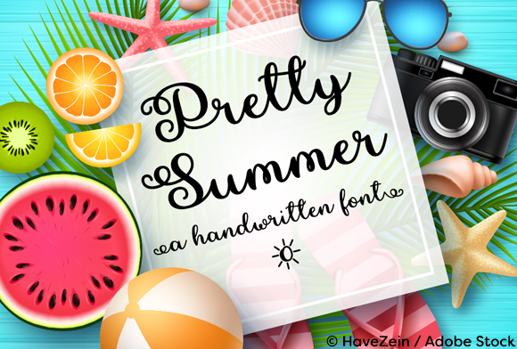 Print on Demand: Pretty Summer Script & Handwritten Font By Misti - Image 1