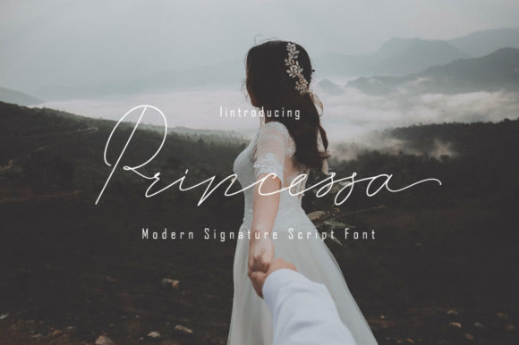 Print on Demand: Princessa Script & Handwritten Font By parawtype