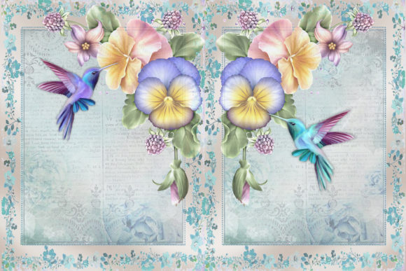 graphic about Printable Backgrounds named Printable Backgrounds Hummingbirds