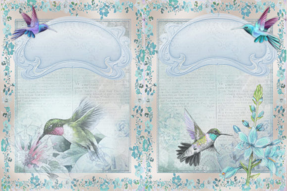 Download Free Printable Backgrounds Hummingbirds Graphic By The Paper Princess Creative Fabrica for Cricut Explore, Silhouette and other cutting machines.