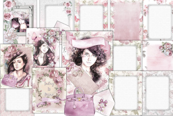 Print on Demand: Printable Backgrounds Pretty in Pink Graphic Crafts By The Paper Princess