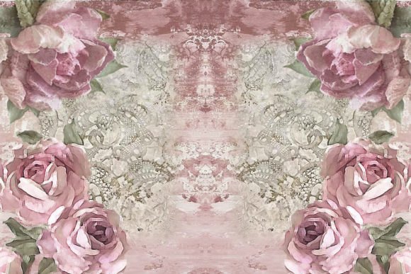 Print on Demand: Printable Backgrounds Rustic Roses Graphic Crafts By The Paper Princess - Image 2