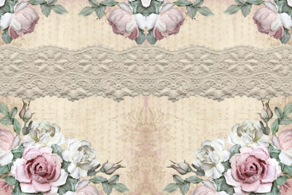 Print on Demand: Printable Backgrounds Rustic Roses Graphic Crafts By The Paper Princess - Image 3
