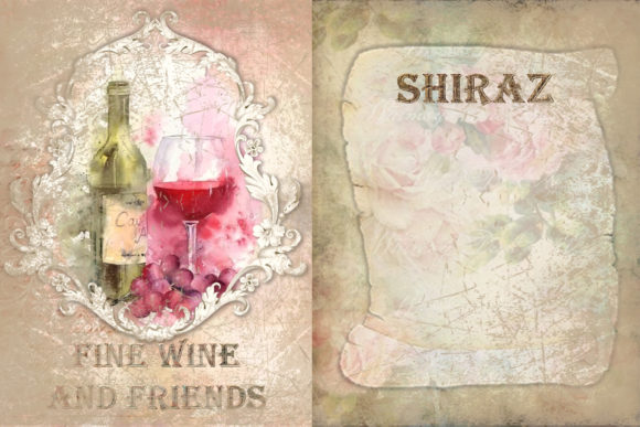 Print on Demand: Printable Backgrounds Sun Sea and Wine Graphic Backgrounds By The Paper Princess - Image 2