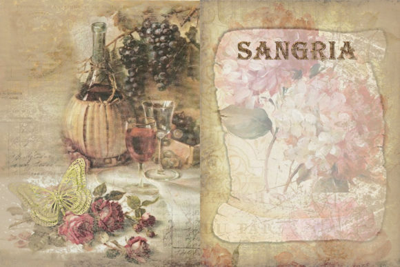 Print on Demand: Printable Backgrounds Sun Sea and Wine Graphic Backgrounds By The Paper Princess - Image 3