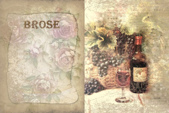 Print on Demand: Printable Backgrounds Sun Sea and Wine Graphic Backgrounds By The Paper Princess - Image 5
