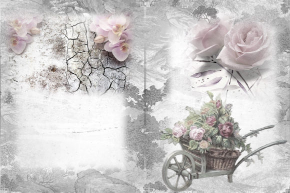 Print on Demand: Printable Backgrounds with Free Clipart Graphic Crafts By The Paper Princess - Image 5