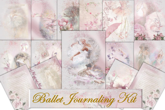 Download Free Printable Ballet Background Sheets Graphic By The Paper Princess for Cricut Explore, Silhouette and other cutting machines.