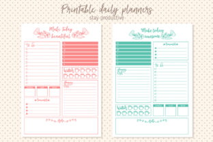 Printable Daily Planner Graphic By Sentimental Postman