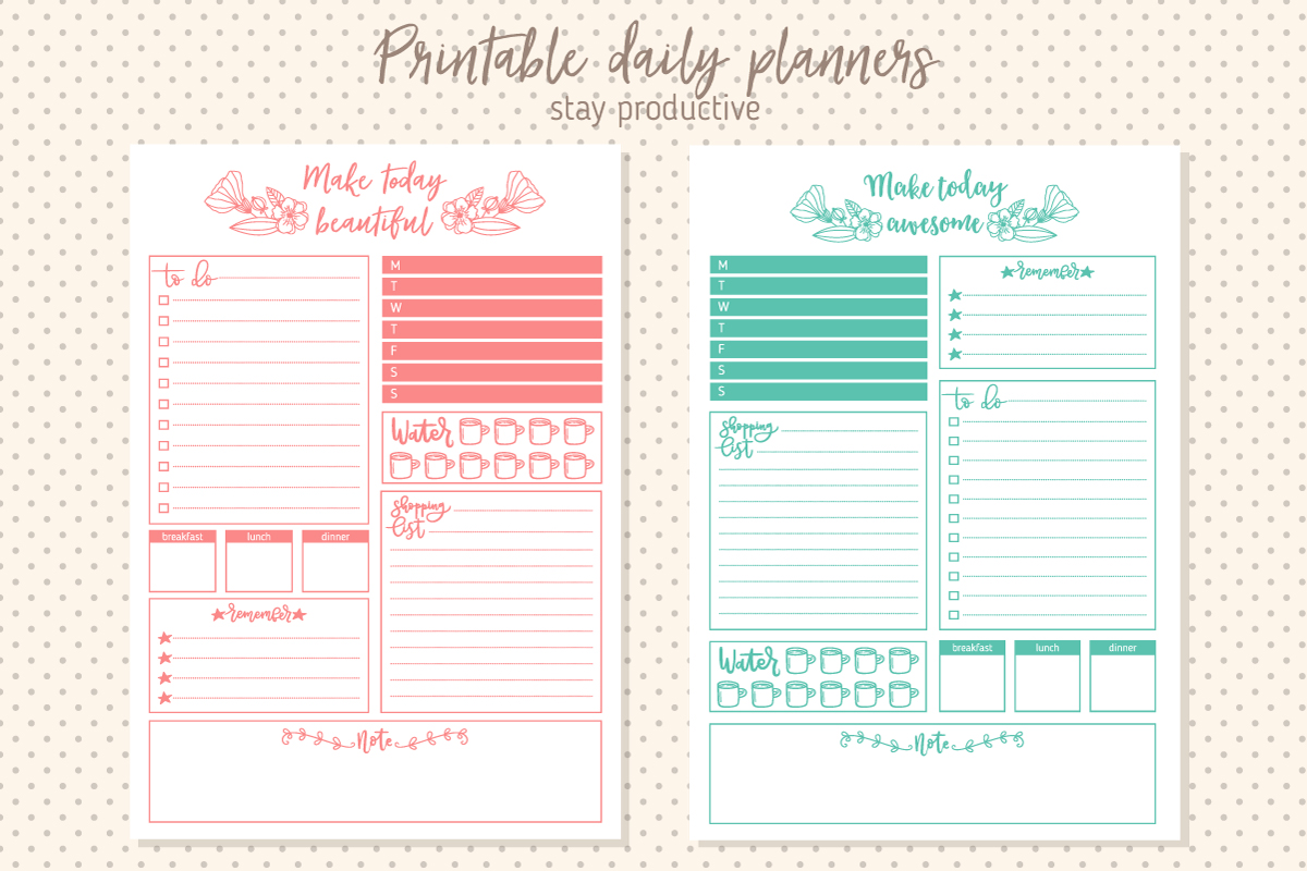 graphic regarding Daily Planner Printable titled Printable Every day Planner