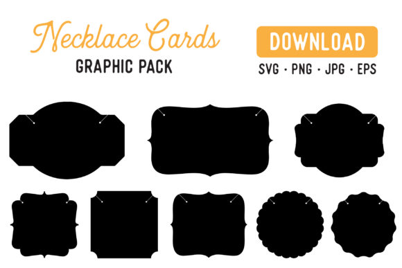 Download Free Printable Necklace Display Card Vector Graphic By The Gradient SVG Cut Files