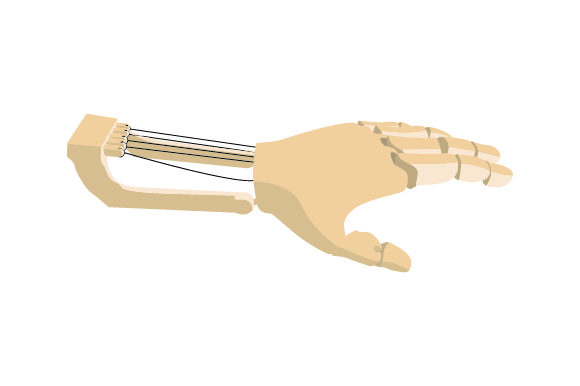 Prosthetic Hand Special Needs Craft Cut File By Creative Fabrica Crafts