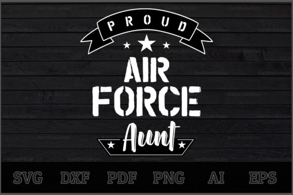 Download Free Proud Air Force Aunt Svg Design Graphic By Aartstudioexpo for Cricut Explore, Silhouette and other cutting machines.