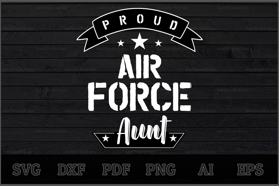 Download Free Proud Air Force Aunt Svg Design Graphic By Aartstudioexpo SVG Cut Files