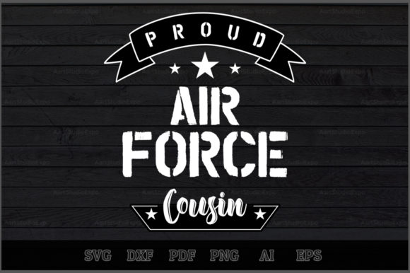 Download Free Proud Air Force Cousin Svg Design Graphic By Aartstudioexpo for Cricut Explore, Silhouette and other cutting machines.