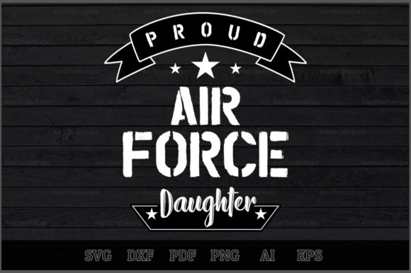 Download Free Proud Air Force Daughter Svg Design Graphic By Aartstudioexpo for Cricut Explore, Silhouette and other cutting machines.
