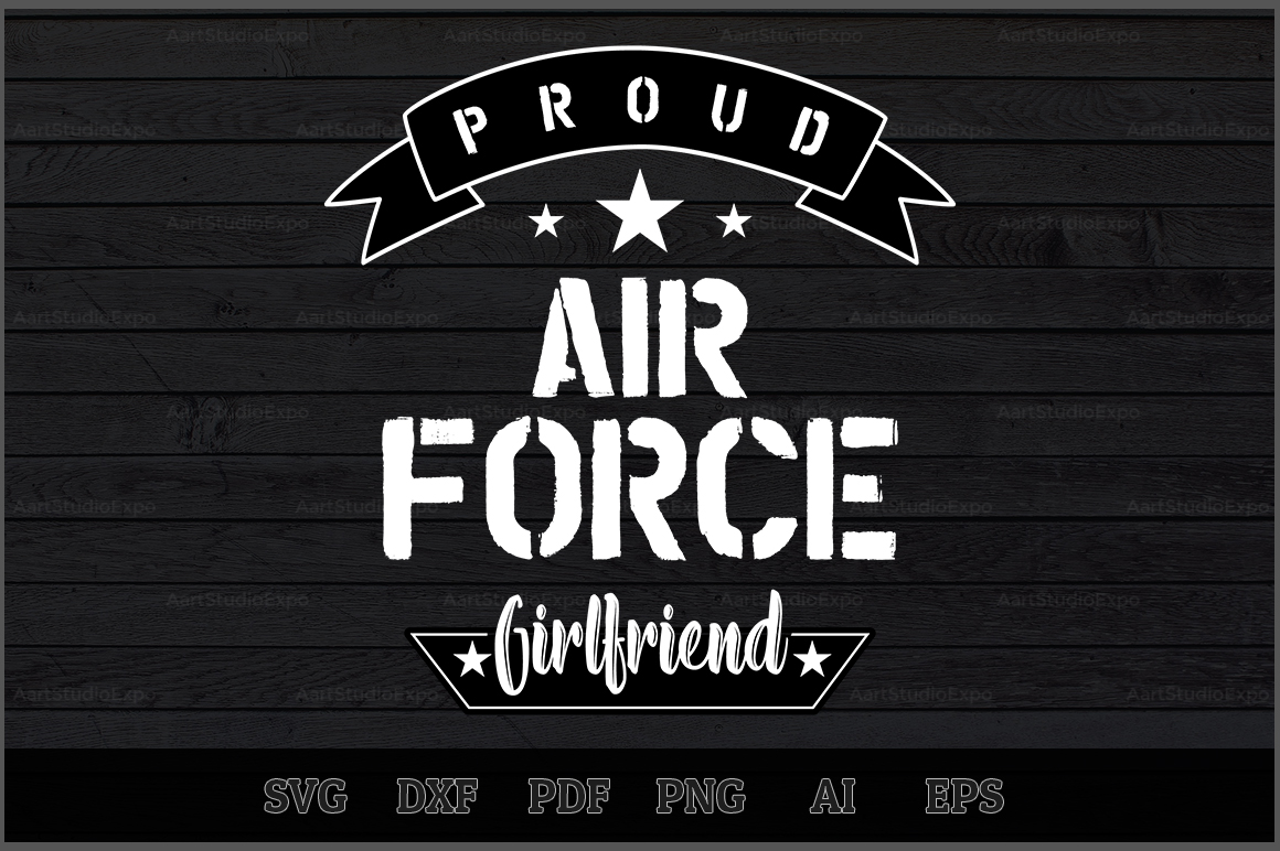 Download Free Proud Air Force Girlfriend Svg Design Grafico Por Aartstudioexpo for Cricut Explore, Silhouette and other cutting machines.
