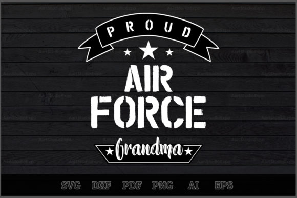 Download Free Proud Air Force Grandma Svg Design Graphic By Aartstudioexpo for Cricut Explore, Silhouette and other cutting machines.